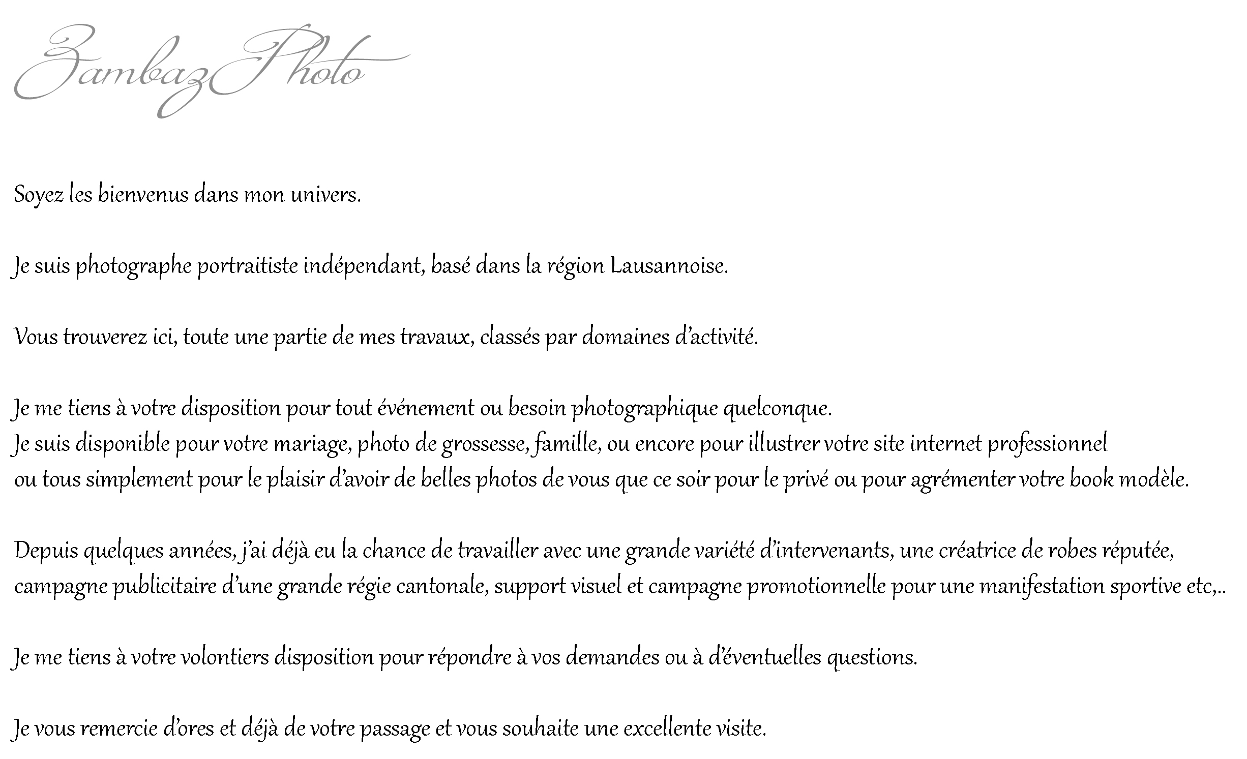 Texte page acceuille
